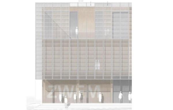 """© Bauvorlage """"Zentrum für Energie- und Wassermanagement"""" - Fassade"""